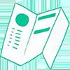 Leaflet design icon